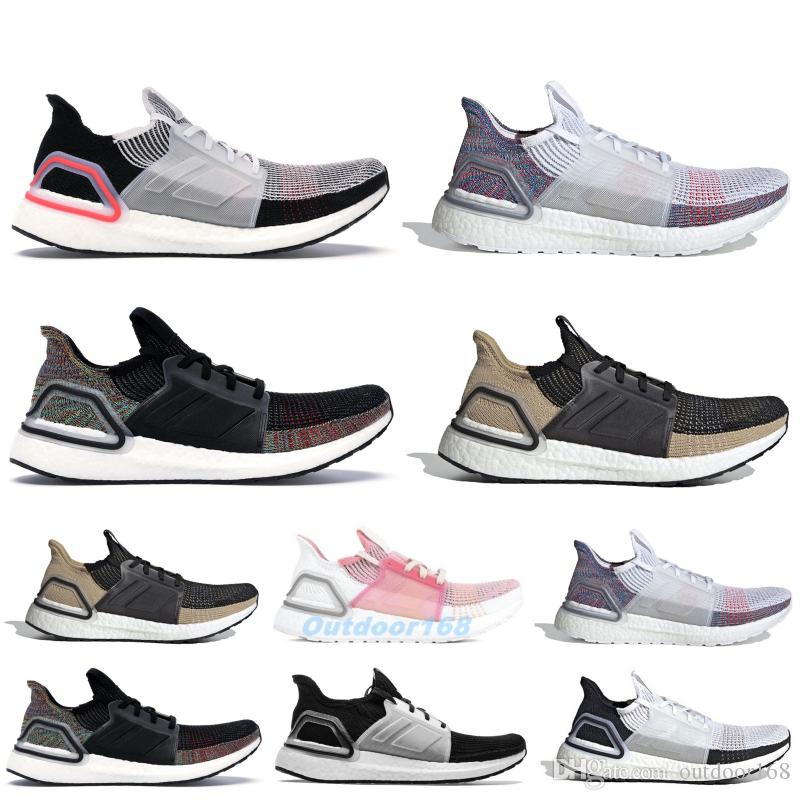 d09776e8e 2019 2019 Ultra Boost 5.0 Primeknit Running Shoes With Box Designer Sneakers  Core Black Raw Sand Ultraboost Men Women Sport Sneakers From Outdoor168