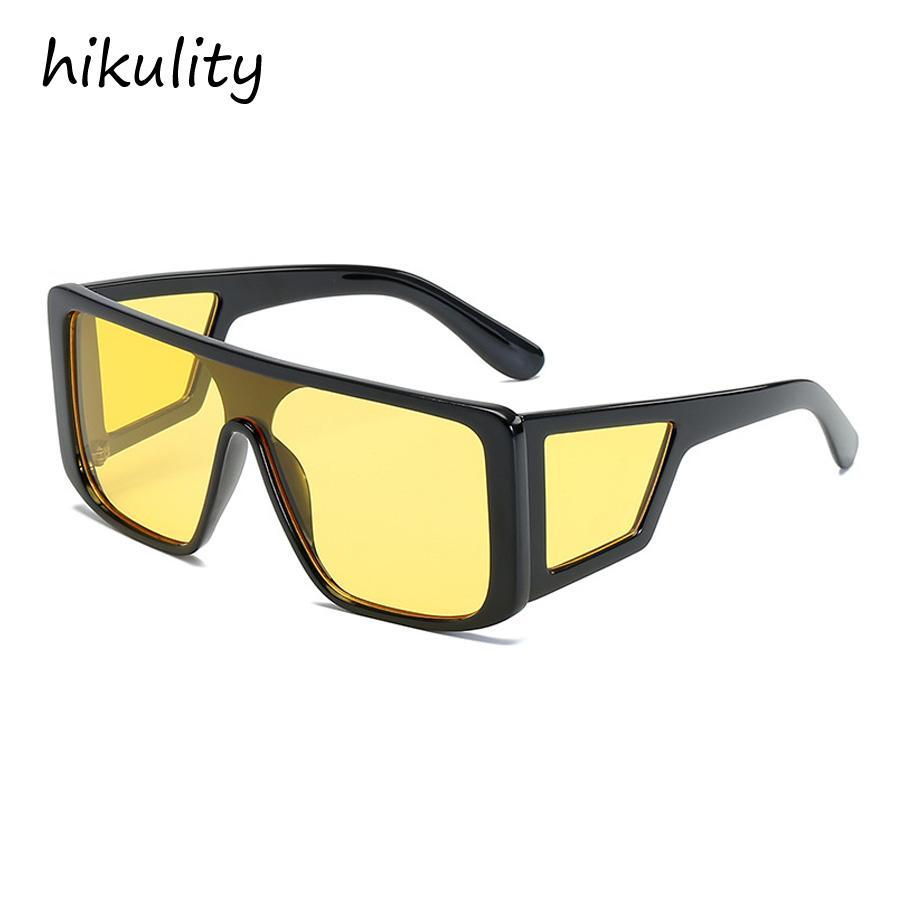 45acf9a8ae Compre 90211a Protección Lateral De Gran Tamaño Gafas De Conducción De  Lentes De Color Amarillo Claro Para Mujeres Gran Marco De Lujo Vintage Gafas  De Sol ...