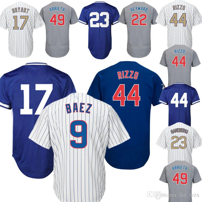 the latest 8f320 da0ca The New Baseball jersey Chicago Cubs Jerseys 44 jersey 12 Kyle Schwarber  Jersey 22 Jason Heyward cheap and fine embroidery logo