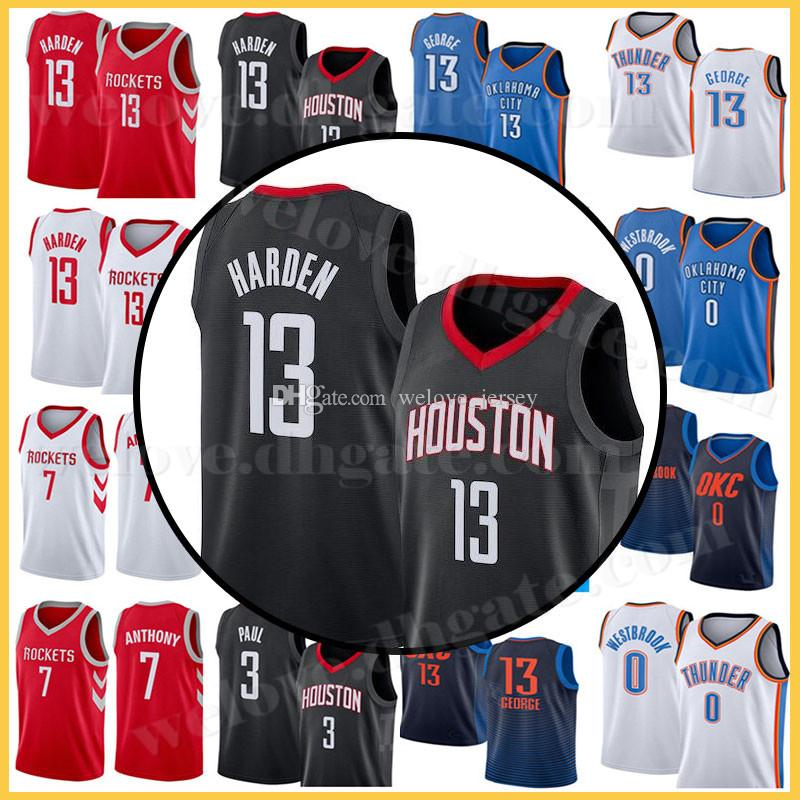 info for edd58 31961 James 13 Harden Rockets 3 Paul Men's Oklahoma Jersey City Russell 0  Westbrook Paul 13 George Thunder Jersey Stitched jerseys Cheap Sale