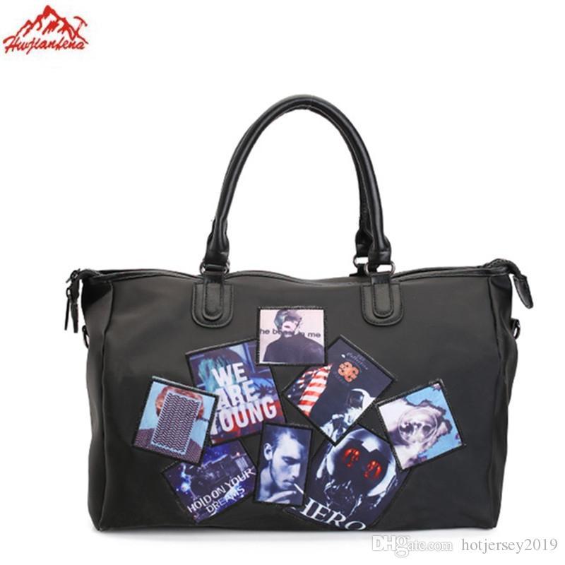 27f0a500b6bc Nylon Women Men Sport Bag Designer Metal Sequins Letters Gym Fitness Sports  Bag Handbag Shoulder Yoga For Female  29753 UK 2019 From Hotjersey2019