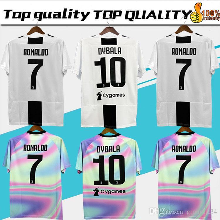 wholesale dealer 17826 86b43 New 2019 RONALDO JUVENTUS Soccer Jersey 18 19 JUVE 2018 Home Away DYBALA  HIGUAIN BUFFON Camisetas Futbol Camisas Maillot Football Shirt