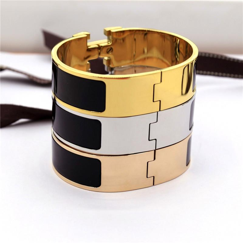 12mm 18mm 33mm hot sale numbers and letters H classic bracelet plated H bracelets for men and women