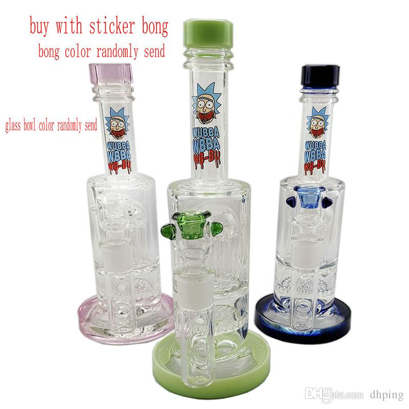 Dhping Glass Bongs Water Pipes Oil Rigs Glass Bong Beaker 8Arm Tree Perc Honeycomb Perc Cheap Glass Pipe dab rigs
