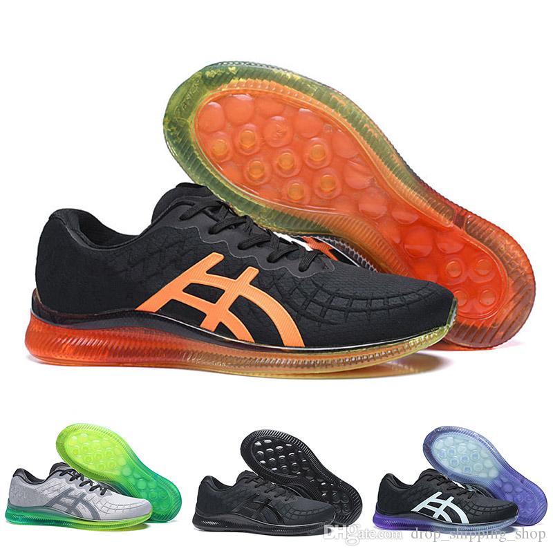 Gel Asics gel Meilleur Qualité Gel Quantum Infinity Hommes Coussins De Mode Chaussures De Jogging Triple Noir Pourpre Orange Vert Hommes Formateurs
