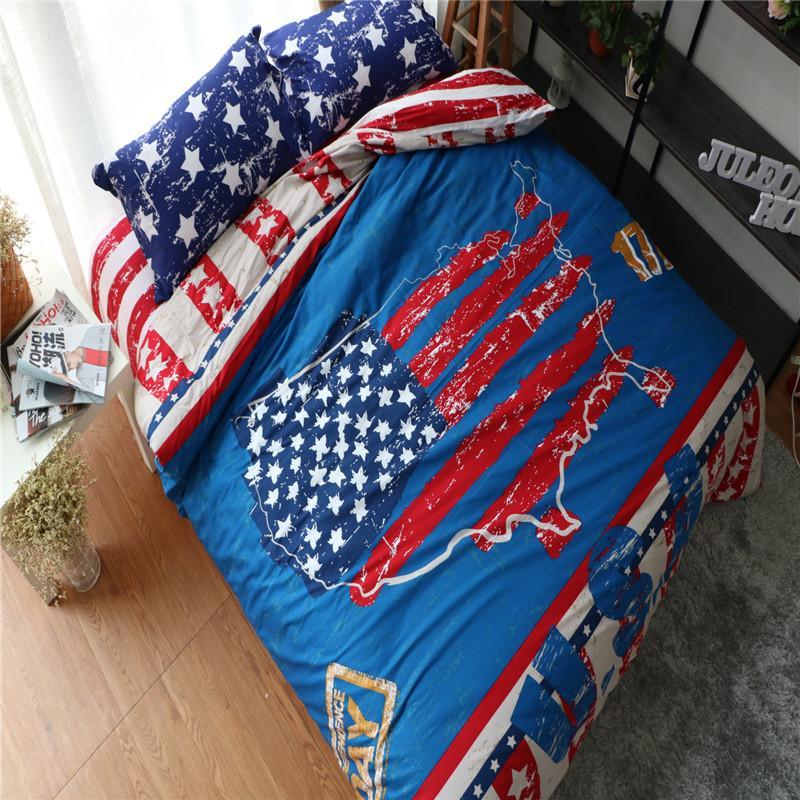 22b9a033060 100% Cotton Creative American Flag Bedding Set Full Size Usa Flag Bedding  Set Bed Sheet Quilt Cover Pillowcase Bed Linen 6 Discount Bedding Hotel  Bedding ...
