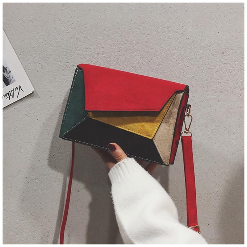 Designer Luxury Crossbody Bags Broadband Color Matching and Sanding Small Square Bag with And One Shoulder Inclined Bag for Women Cute Color