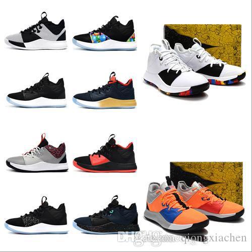 9e365bf4cb38b Acquista 2019 Nuovo Arrivo P   G Bambini Scarpe Da Basket Nero E Blu Di  Alta Qualità Uomo Bambini Scarpe Sportive Sneakers Us 7 12 Bambini A  52.29  Dal ...