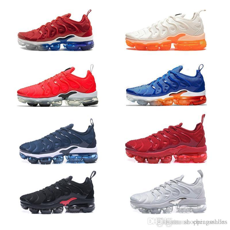 TN Plus 2018 2019 TNS Men Running Shoes Trail Sport Shoes For Women Men's Sports Trainers Silver Gradient Sherbet Athletic Sneakers