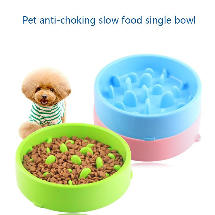 Pet Bowl Slow Food enigma Alimentador Anti-Choking Slow Food bacia de espessamento antiderrapante de alta qualidade pet fornecimentos bacia do cão