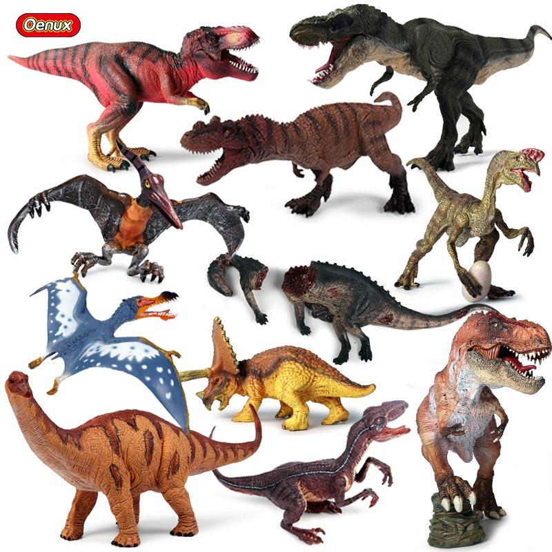 heap Action & Toy Figures Oenux Original Jurassic T-Rex Pterodactyl Dinosaurs World Model Action Figures Prehistoric Savage Dinosauri...