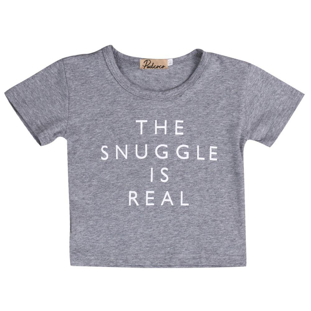 Yüksek Kaliteli Yenidoğan Çocuk Yaz Giyim Erkek Bebek Kız Pamuk Kısa SleeveT Gömlek Kıyafet Tee Tops