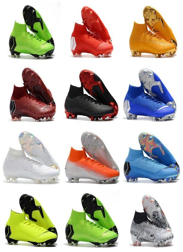 2ead94d38 2019 Mercurial Superfly VI 360 Elite FG KJ 6 XII 12 CR7 Ronaldo Neymar Mens  Women Boys High Soccer Shoes 20th Football Boots Cleats Size 35 45 From ...