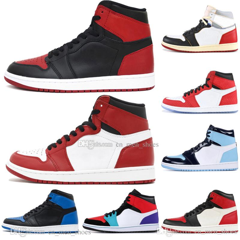 1 High OG Banned Bred Toe Black Spider-Man UNC 1s top 3 Mens Basketball Shoes Homage To Home Royal Blue Men Sport Designer Sneakers Trainers