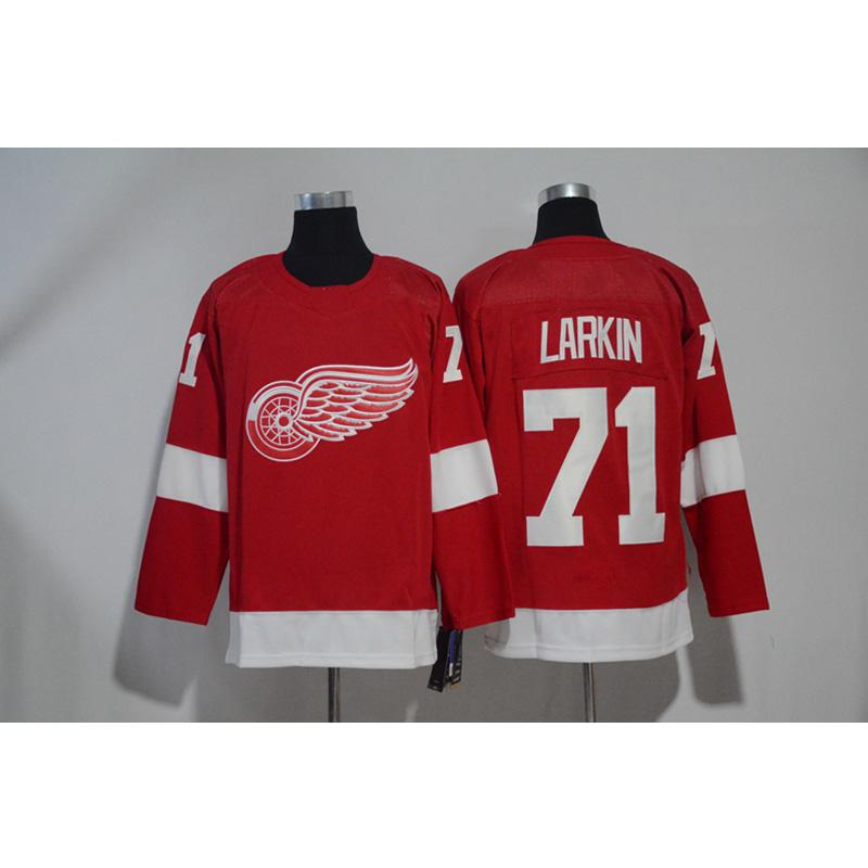wholesale dealer b3b5e 26e3b Mens Detroit Red Wings Dylan Larkin Redwings Home Away Red White Hockey  Jersey All Players In