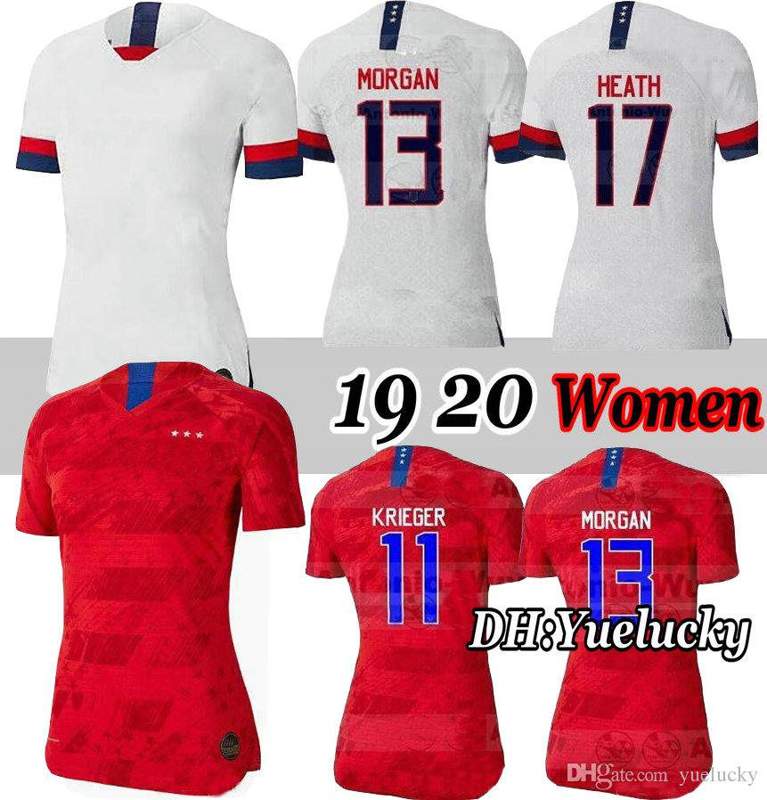 d503a0b37 2019 World Cup 2019 America Girl Soccer Jersey United States Home Away  Shirt USA Women 3 Star KRIEGER LLOYD RIPINOE Football Uniform 19 20 From  Yuelucky, ...