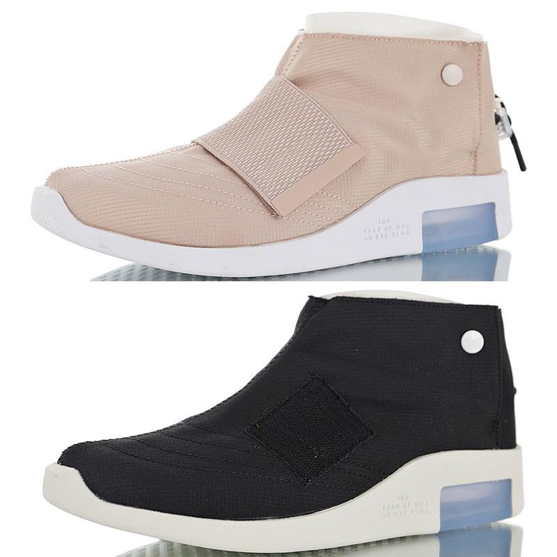 0b8ff812b59564 Compre Nuevo Miedo De Dios 1 FOG Mocasín Partícula Beige Negro Zapatos De  Alta Calidad Hombres Mujeres Mediados Zapatos Casuales Zapatillas De  Deporte ...
