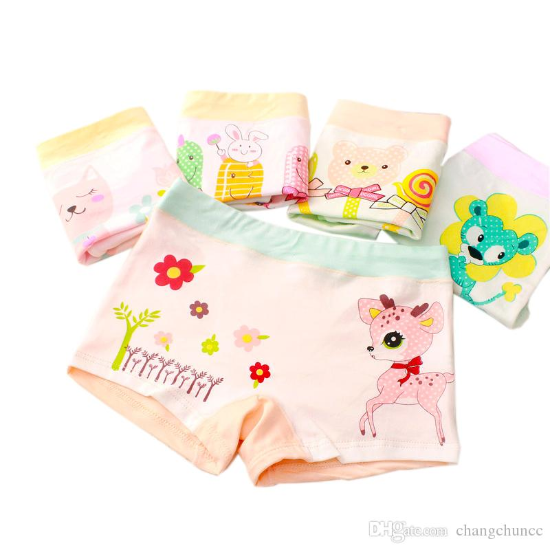 6 Pcs/Lot New Girls Boxer Breathable Cotton Material Kids Girls Underwear for Baby Panties 3 5 7 9 Children's Clothing