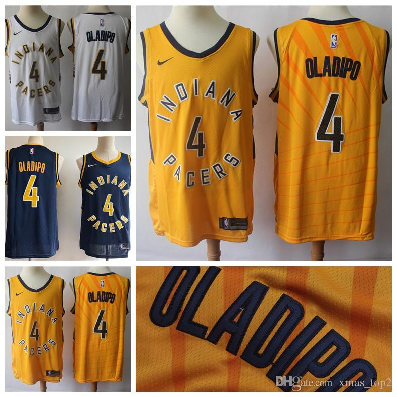 newest 0da6e 338af 2019 New Mens 4 Victor Oladipo Indiana Jersey Pacers Basketball Jerseys  Stitched New The City Edition Victor Oladipo Basketball Jerseys