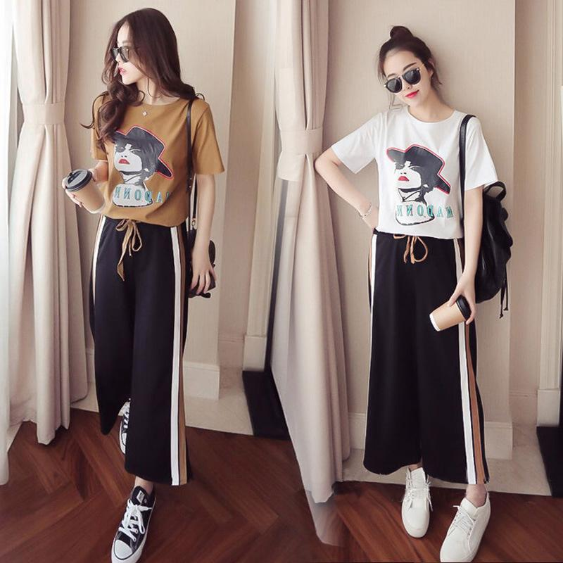2019 2019 Summer New Women S Casual Students Fashion Short Sleeved