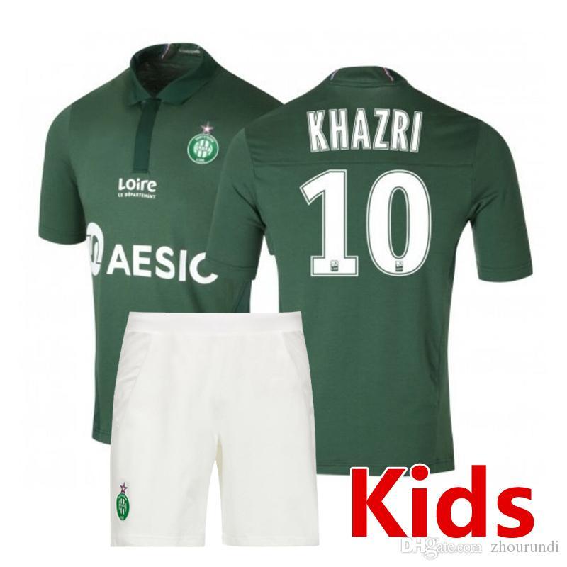 9c12dbf5976 2019 2019 Saint Étienne Kids Soccer Jersey Ligue 1 Soccer Sets 18 19 Saint  Étienne Football Shirts Maillot De Foot Kids Kit Running Jerseys From  Zhourundi, ...