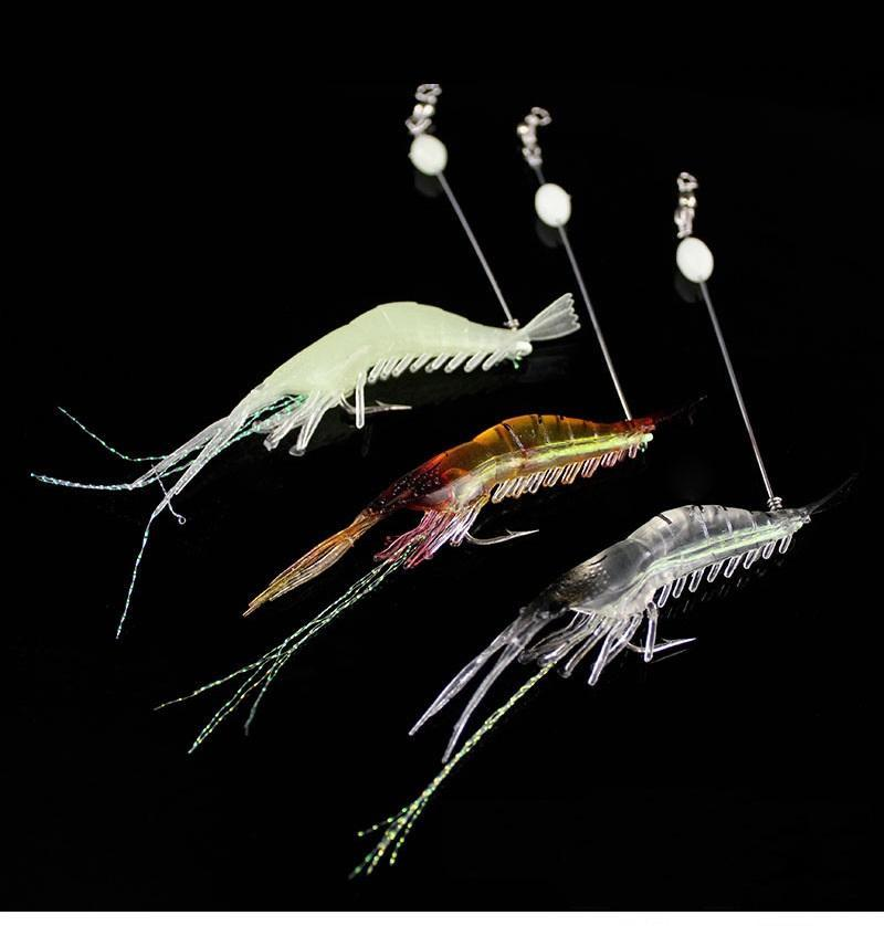 90mm Soft Simulation Prawn Shrimp Fishing Floating Shaped Lure Hook Bait Bionic Artificial Shrimp Lures with Hook MMA1765