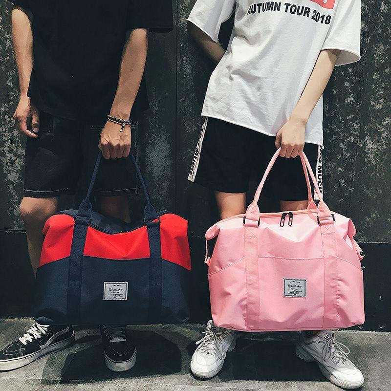 New Short-distance Travel Bag Female Portable Luggage Bags Men s ... aba474637598b