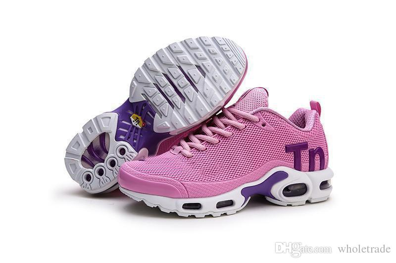 the best attitude 9dbfb 4ecc5 Free Shipping 2019 Air Tn Plus Womens Running Shoes Girls Plus Tns Sneakers  Pink Red Black Grey Snekers Size US 5.5-8.5