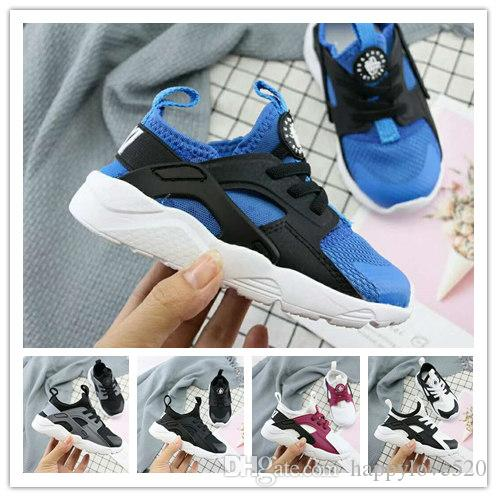 bbd0e0f150 2019 Air Huarache Ultra Kids Running Shoes Infant 4 IV Children Huaraches  Sneakers Huraches Chaussures Baby Boys Girls Youth Trainers 22 35 Boys Neon  Shoes ...