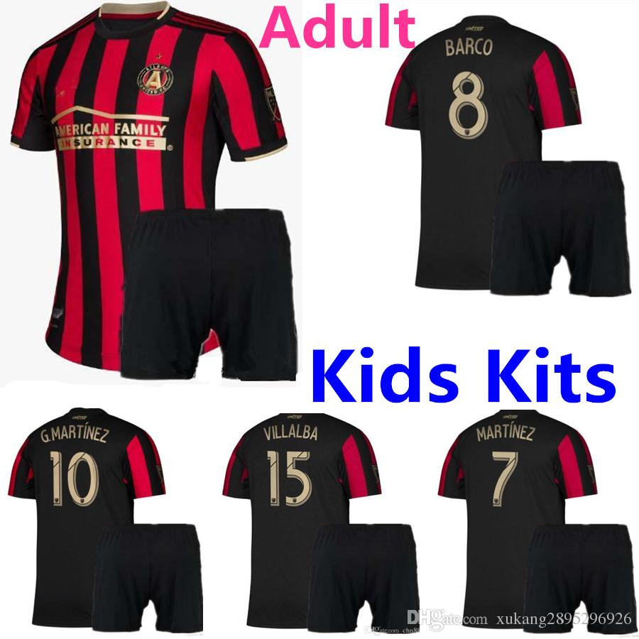 low priced 6958b a3e8e 2019 2020 MLS Atlanta United FC soccer jersey kids kit 19 20 GARZA JONES  VILLALBA MCCANN MARTINEZ ALMIRON football shirts Adult Kits