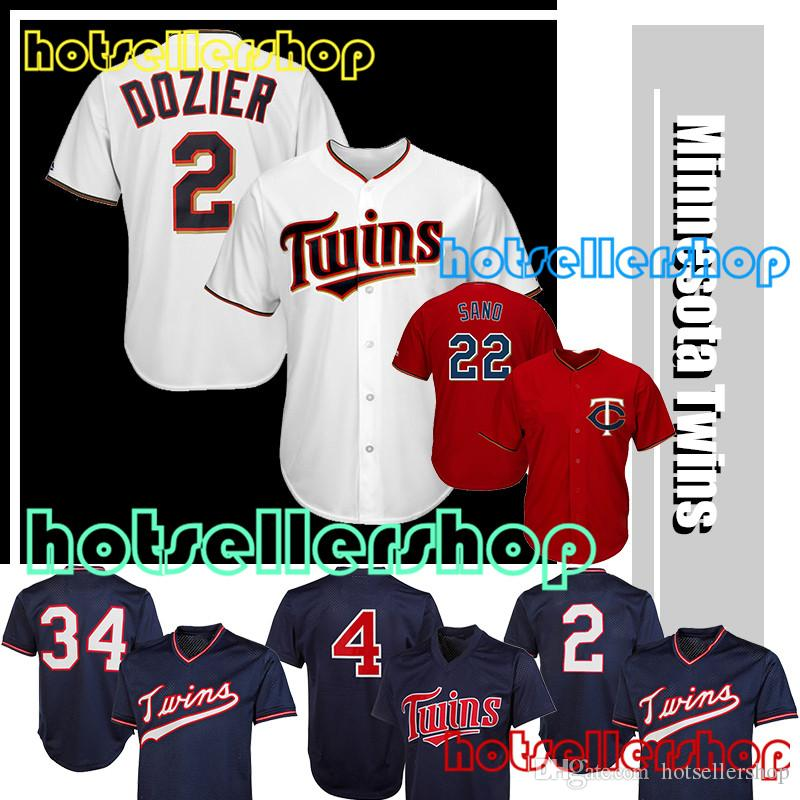 42d6a407283 ... men navy; 2018 minnesota twins baseball jerseys 34 kirby puckett 2  brian dozier 22 miguel sano stitched embroi