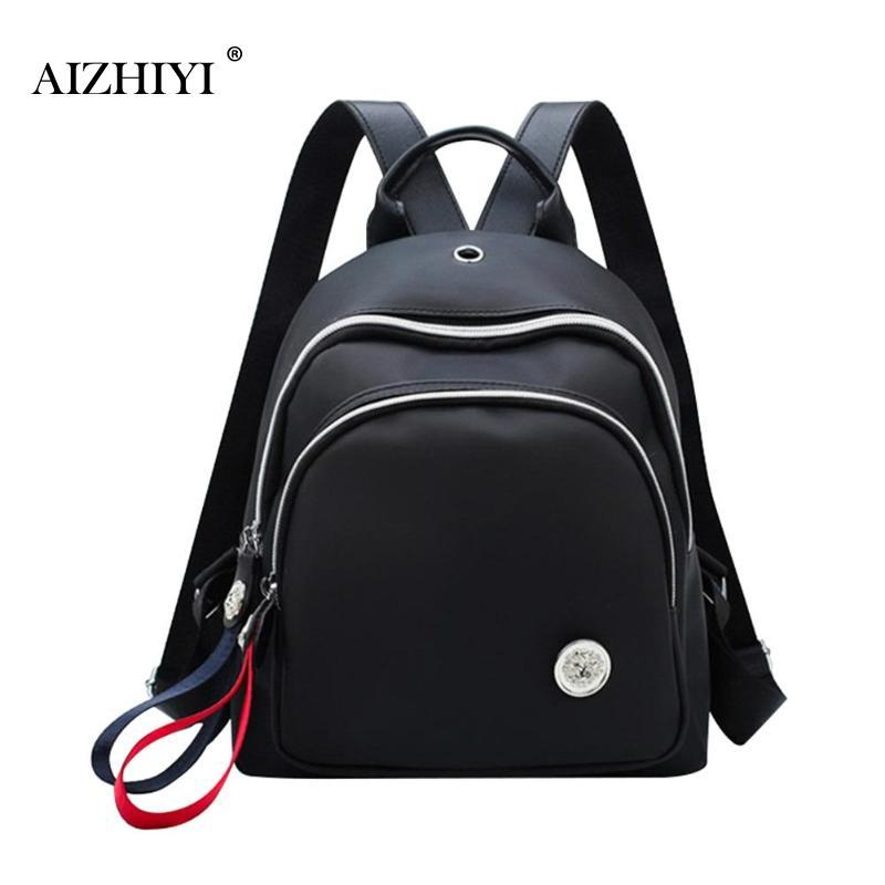 a597b862f4 Fashion Women S Bagpack Small Nylon Waterproof Backpack Women Girls Daypack  School Shoulder Bags Ladies Travel Mini Rucksack Leather Backpack Laptop ...