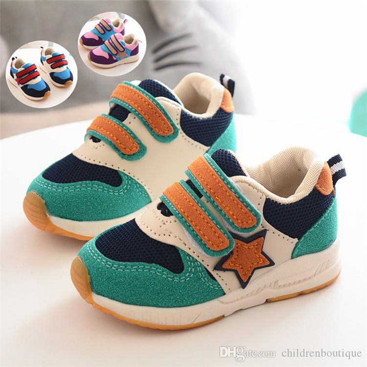 875a3e60f8 Toddler Baby Shoes Newborn Infant Prewalker Korean Soft Sole Sneakers  Fashion Patchwork For Toddler Baby Unisex Breathable Casual Shoes