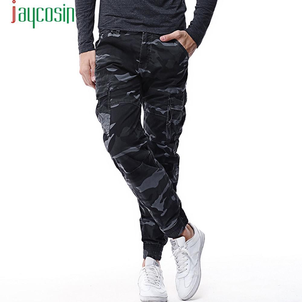 2019 Nuevo Primavera Plus Size Camo Corredores Hombres Pantalones De