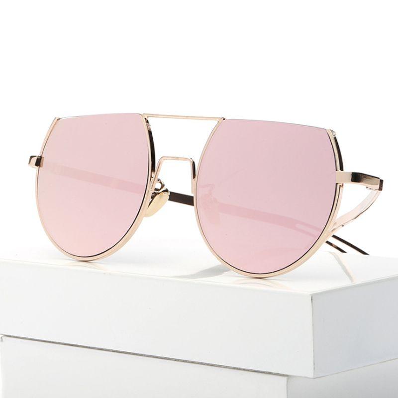 6ec83fe472 DSGN CO. New Arrival Flat Top Round Fashion Sunglasses For Women ...