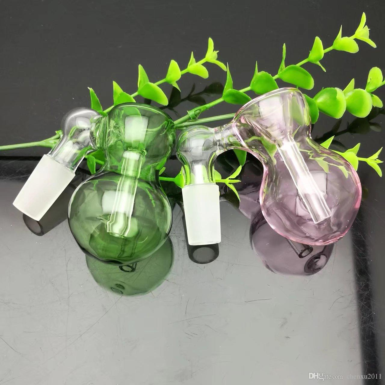 New color gourd glass bubble head Wholesale Glass bongs Oil Burner Glass Water Pipes Oil Rigs Smoking, Oil.