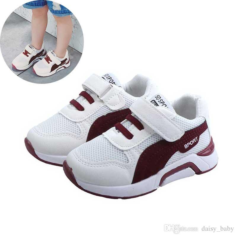 3390bc072 Compre Zapatos De Malla Para Bebés Niños 2019 Zapatillas De Deporte De  Primavera Zapato Casual Para Niños Chicos Chicas Moda Suave Y Cómodo Zapatos  De ...