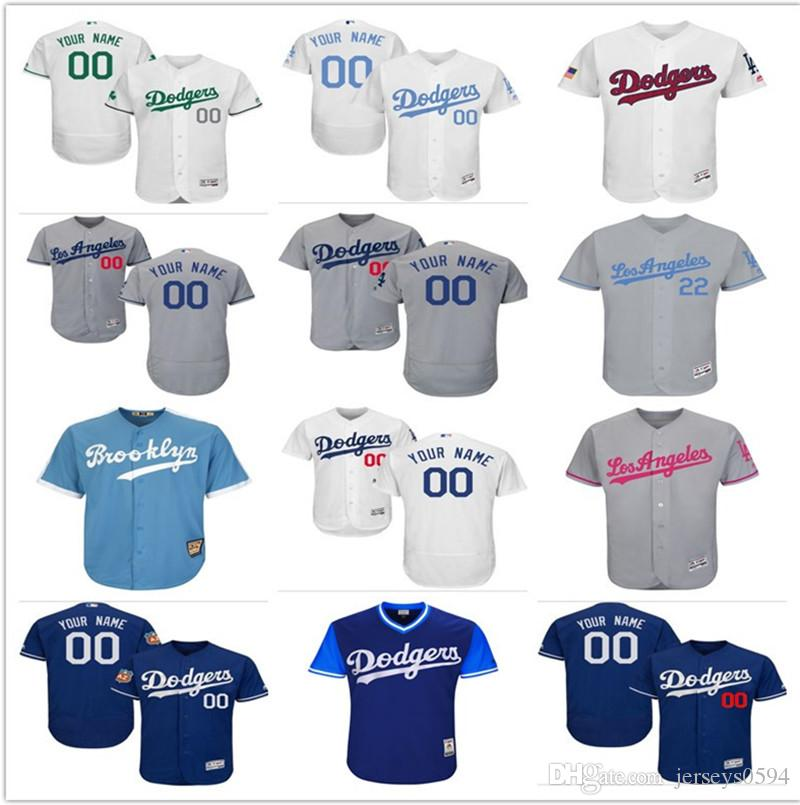 differently f7b74 b7dac 2018 custom Men s Women Youth Majestic LA Los Angeles Dodgers Jersey Any  Your name and number Home Blue Grey White Kids Baseball Jerseys