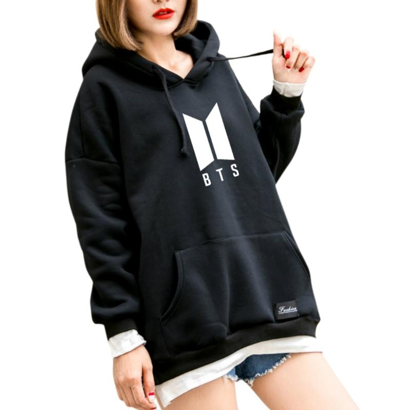 Hooded Female Bts Hoodie Bangtan Spring Hooded Sweatshirt Hip Hop Patchwork Hoodies With Pocket Fashion New Size S-XL