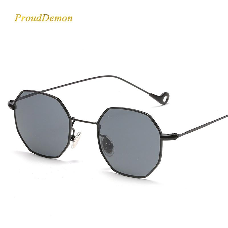 1079308826 Steampunk Polygon Shape Sunglasses Women Men Vintage Luxury Brand Designer  Clear Lens Sun Glasses Hexagon Metal Frame Eyewear Spitfire Sunglasses  Native ...