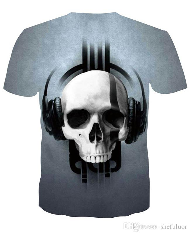 2019 Cool Outdoor T-Shirts Stampato con maniche corte Biology Skull Ghosts Outdoor Wear Assorbe il sudore Athletic Climbing Hiking Running