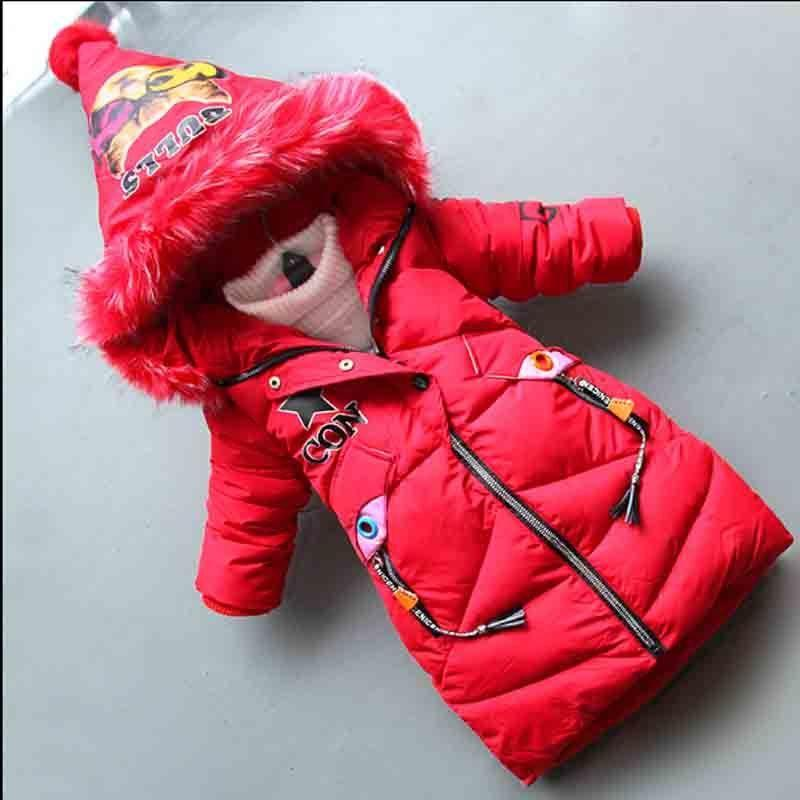 9862416d0 Good Quality 2018 New Girls Down Cotton Jacket Childrens Down Winter ...
