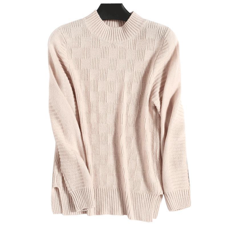 newest 3d9ba c2cb3 Maglioni lavorati a maglia in lana cachemire Maglioni lavorati a maglia  scozzesi a maglia Donna Pullover invernali Top Maglioni donna Abbigliamento  ...
