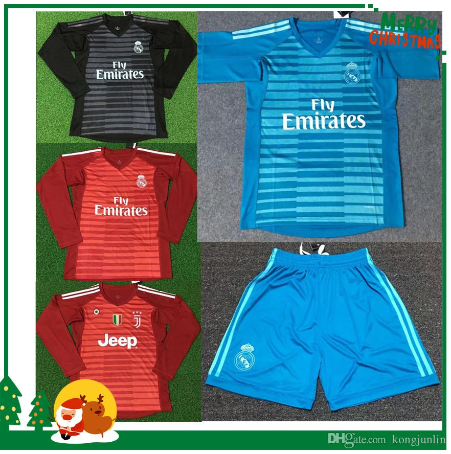 703124d0f 18 19 Real Madrid Juventus Goalkeeper Football Jersey Shorts 2018 2019 Sports  Goalkeeper Shirt Online with  18.94 Piece on Kongjunlin s Store