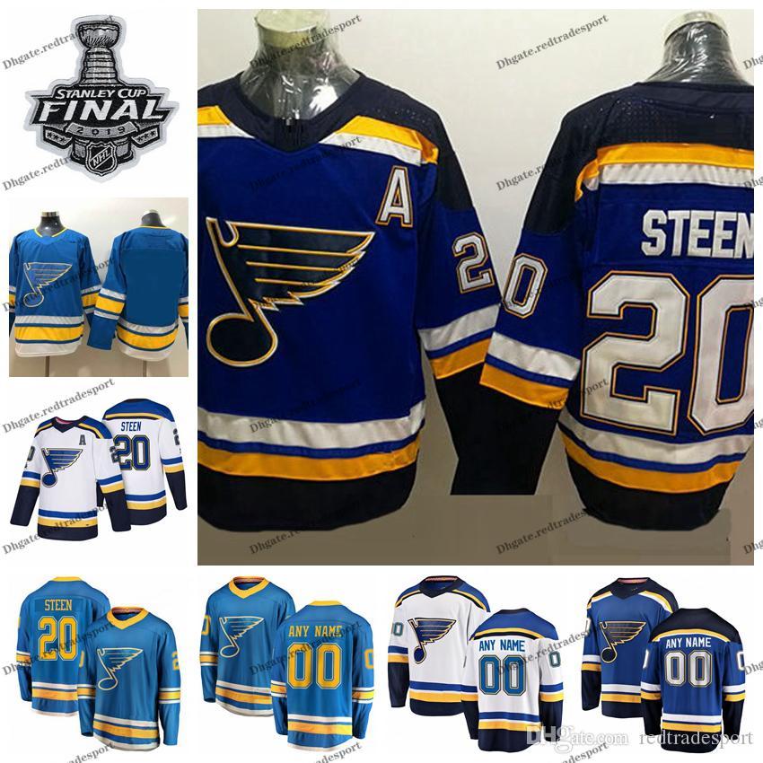huge selection of 00e42 22226 2019 Stanley Cup Final Alternate Customize Alexander Steen St. Louis Blues  Hockey Jerseys 20 Alexander Steen Navy Blue Stitched Shirts