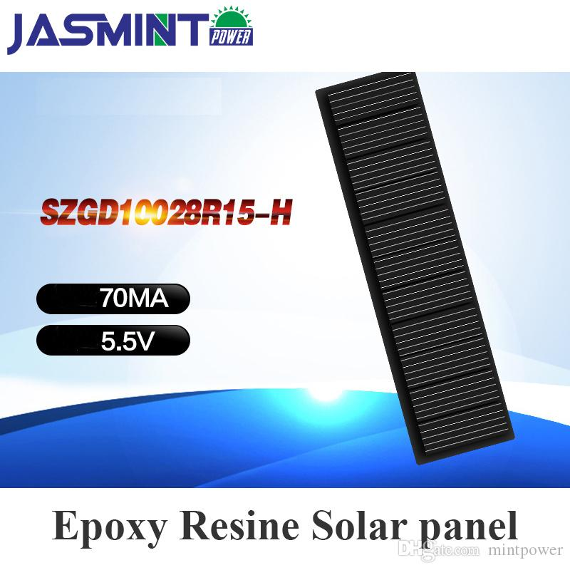 100*28mm 5 5V 0 22W Epoxy Solar Panel Photovoltaic Panel monocrystalline  Solar Cell Power Energy Module DIY for charging phone c