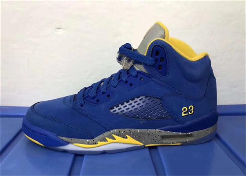 13547b9f668d55 2018 New Release 5 JSP Laney Man Woman Basketball Shoes For Mens HBlue Suede  3M Reflective CD2720-700 Athletic Sneakers Size 7-13 Athletic Shoes Running  ...