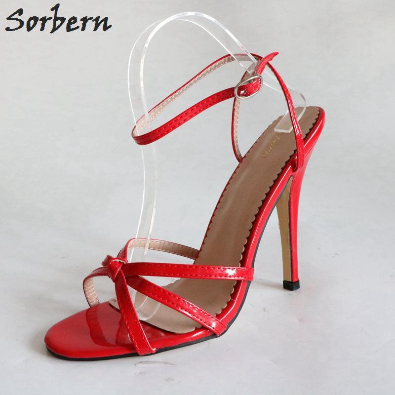 52719971f08 Wholesale Sexy Red Sandals 12Cm Stilettos High Heel Shoes Slingback Sandal  Shoes Women Sandals 2018 Summer Runway Shoes Diy Colors Leather Sandals  Wedding ...