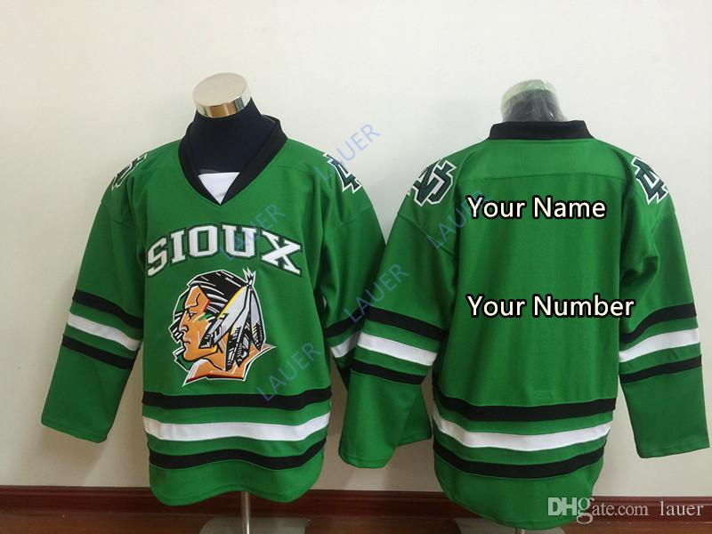 Custom Chicago Blackhawks North Dakota Fighting Sioux Hockey Jersey Limited  Men Stitched Black Green White Shirts Any Name Number S 4XL UK 2019 From  Lauer e356c28cf