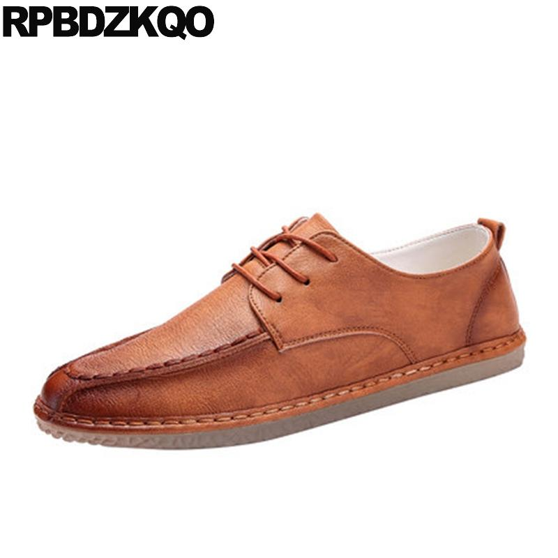 84bdb527ab2ee Oxfords Spring And Autumn Lace Up Round Toe Stylish Business Casual Men  Shoes Comfort Designer Rubber 2018 Fashion Flats Brush Shoes Uk Mens  Chelsea Boots ...